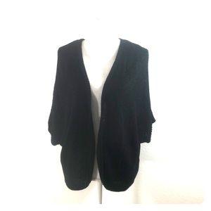 Apt 9 Dolman Sleeve Black Knit Cardigan 1X